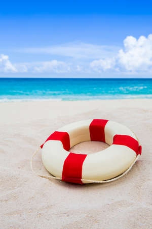 beach buoy: Life buoy at the beach