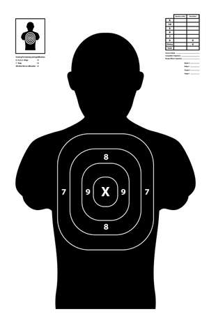 Shooting target used at shooting range illustration