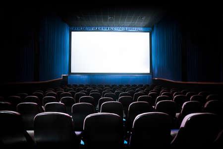 teatro: Cine imagen de la pantalla en blanco  Contraste con