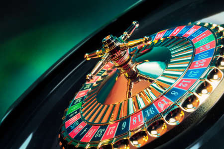 high contrast image of casino roulette