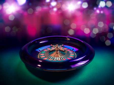 bonne aventure: l'image de contraste élevé de la roulette de casino