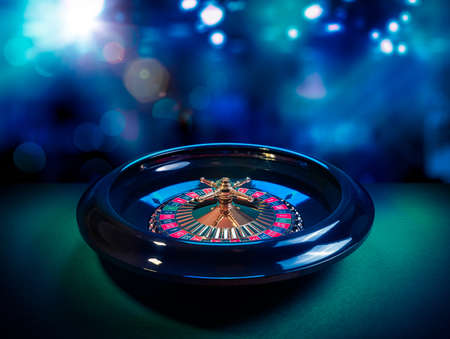 casinos: high contrast image of casino roulette