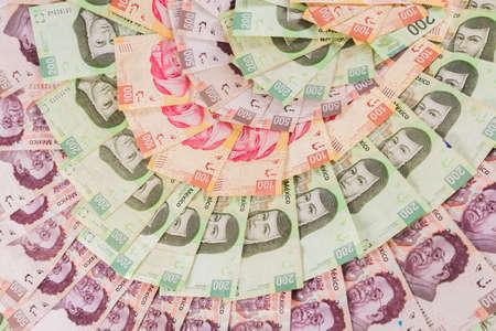 Mexican pesos, bills of 50, 100, 200, 500 Stock fotó