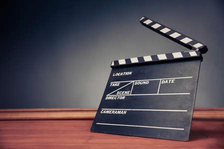 movie industry object on a grey background
