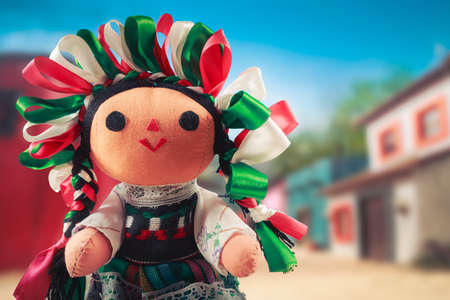 mexican folklore: Mexican rag doll in a traditional dress