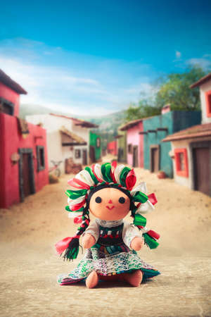 rag doll: Mexican rag doll in a traditional dress