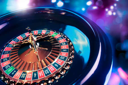 roulette wheel: high contrast image of casino roulette