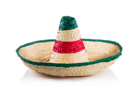 Mexican sombrero in white background Stock Photo