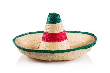Mexican sombrero in white background Foto de archivo