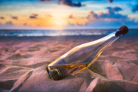 shore: Message in a bottle on a shore