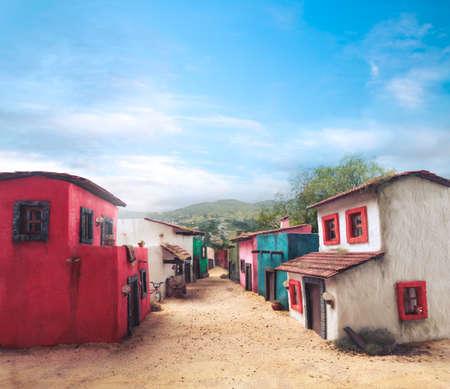 メキシコ町のスケール モデル