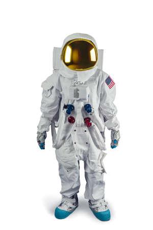 宇宙飛行士の白で隔離 写真素材