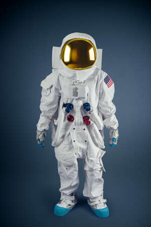 Astronaut on a grey background