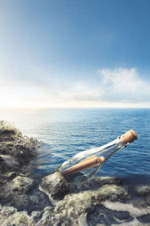 message: message in a bottle at sea