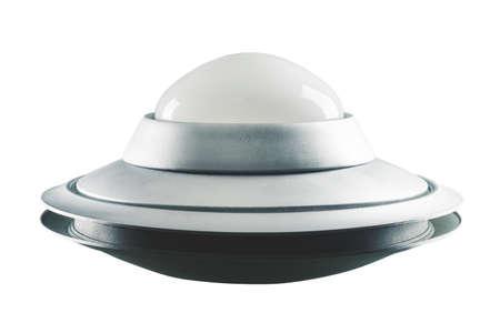 Vintage UFO isolated on white