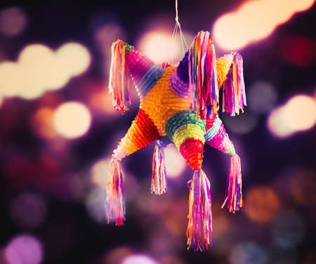 Colorful mexican pinata used in birthdays and posadas