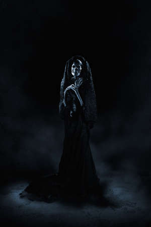 Scary ghost on a dark background