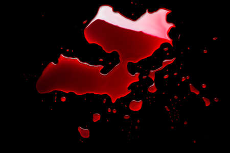 blood puddle isolated on black