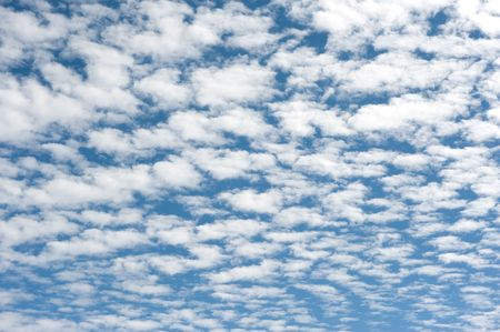 tons: Blue skies filled with tons of clouds Stock Photo