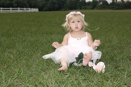 Beautiful little girl outdoors at the park
