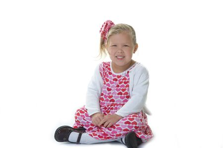Adorable little girl dressed for Valentine