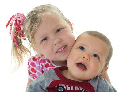 Adorable kids dressed for Valentine Stok Fotoğraf