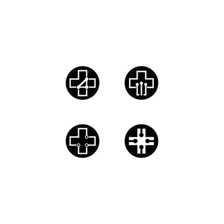 Medical cross logo template vector icon design Ilustração