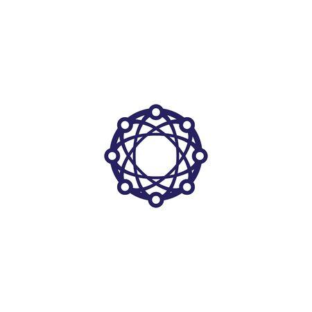 Global tech logo template vector icon design Illustration