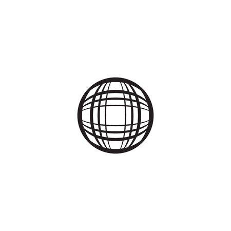 Global logo template vector icon design