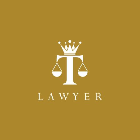 Law logo template vector icon design