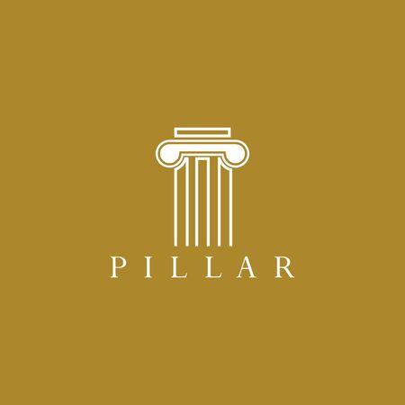 column logo template vector icon design