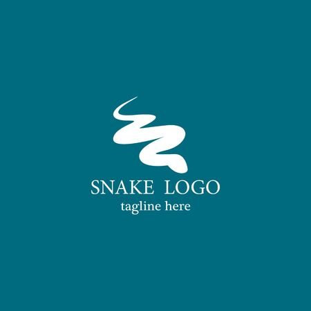 Snake logo template vector icon design
