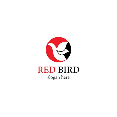Red Bird logo template vector icon design