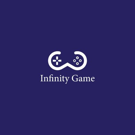 Infinity Games logo template vector ico design