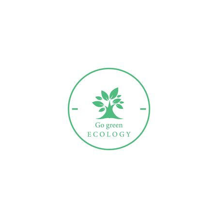 Tree leaf vector logo design, eco-friendly concept Vettoriali