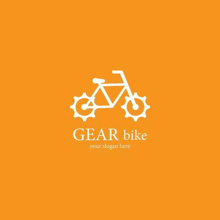 Gear bike  template vector icon