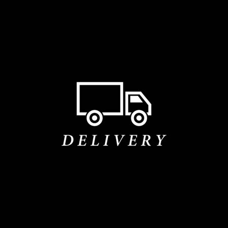 Truck delivery  template vector icon design