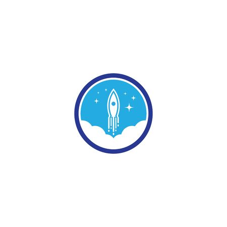 Rocket template vector icon design
