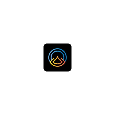 Mountain  template icon design