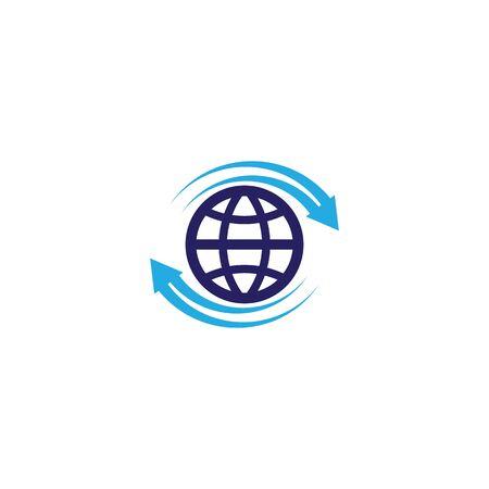 Global arrow  template vector icon design