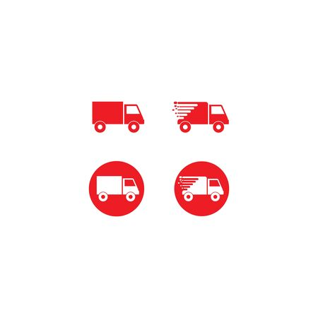 Truck  template vector icon design