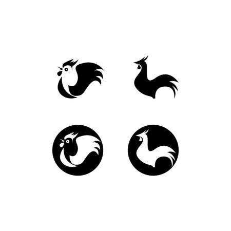 Rooster  template icon design Illusztráció