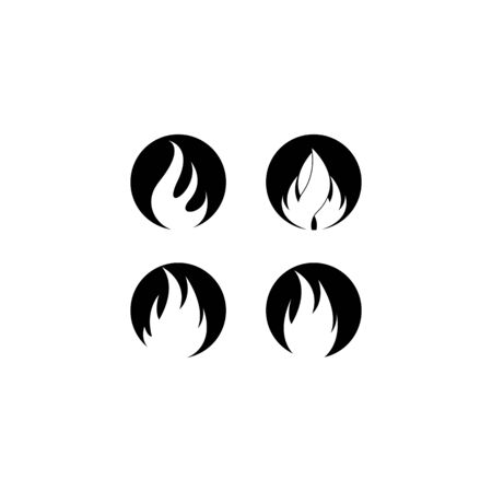 Flame template vector icon design