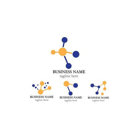 molecule  template icon design