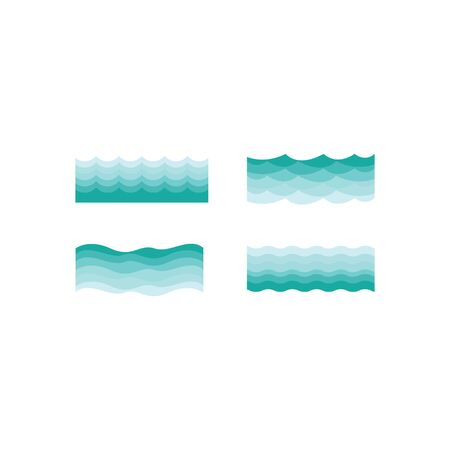 wave  template vector icon design