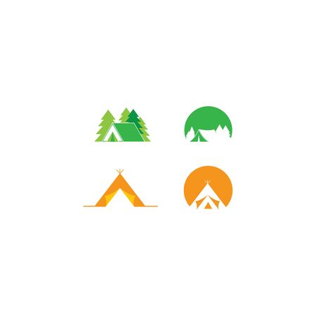 Tent  template vector icon design 向量圖像