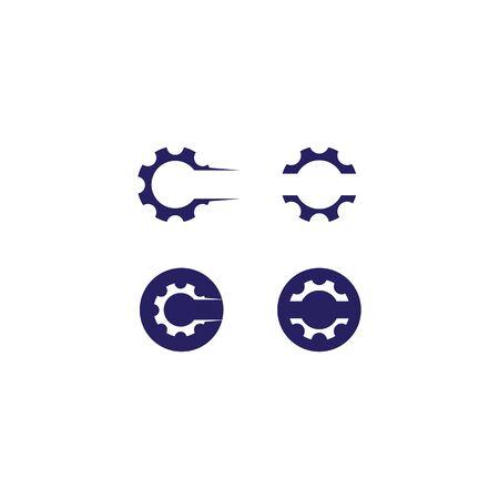 Gear logo template vector icon design