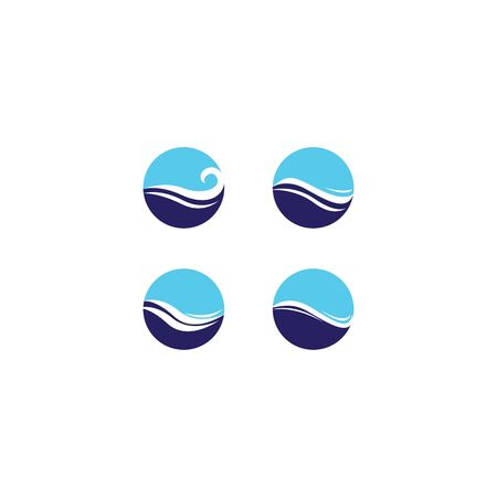 Water wave logo template vector icon design