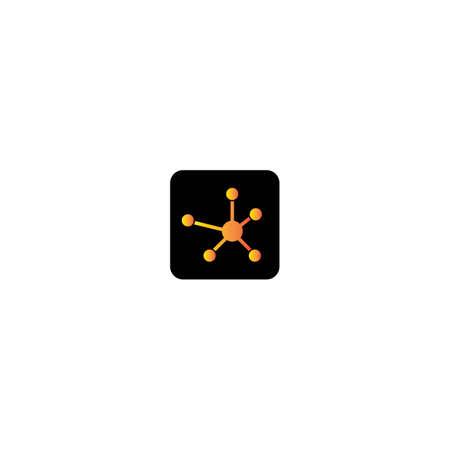 molecule logo template icon design Illusztráció