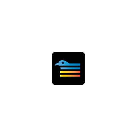 Flag logo template vector icon design  イラスト・ベクター素材